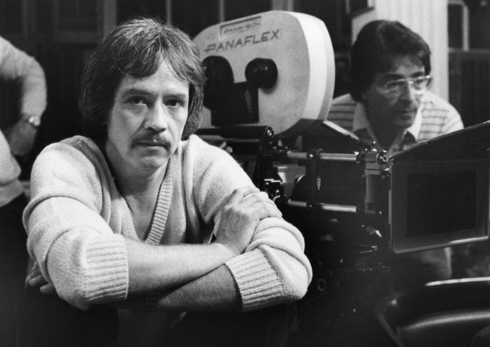 John Carpenter nel 1982 sul set de La Cosa