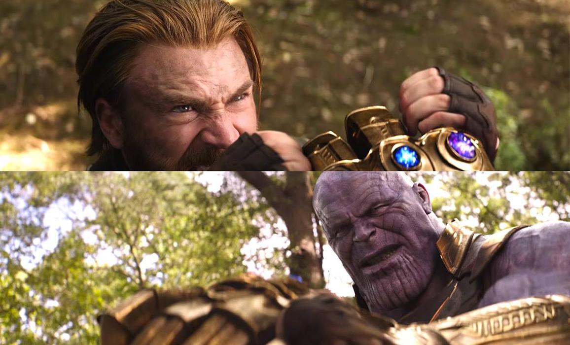 Il momento in cui Cap potrebbe morire in Avengers: Infinity War, bloccando il guanto di Thanos