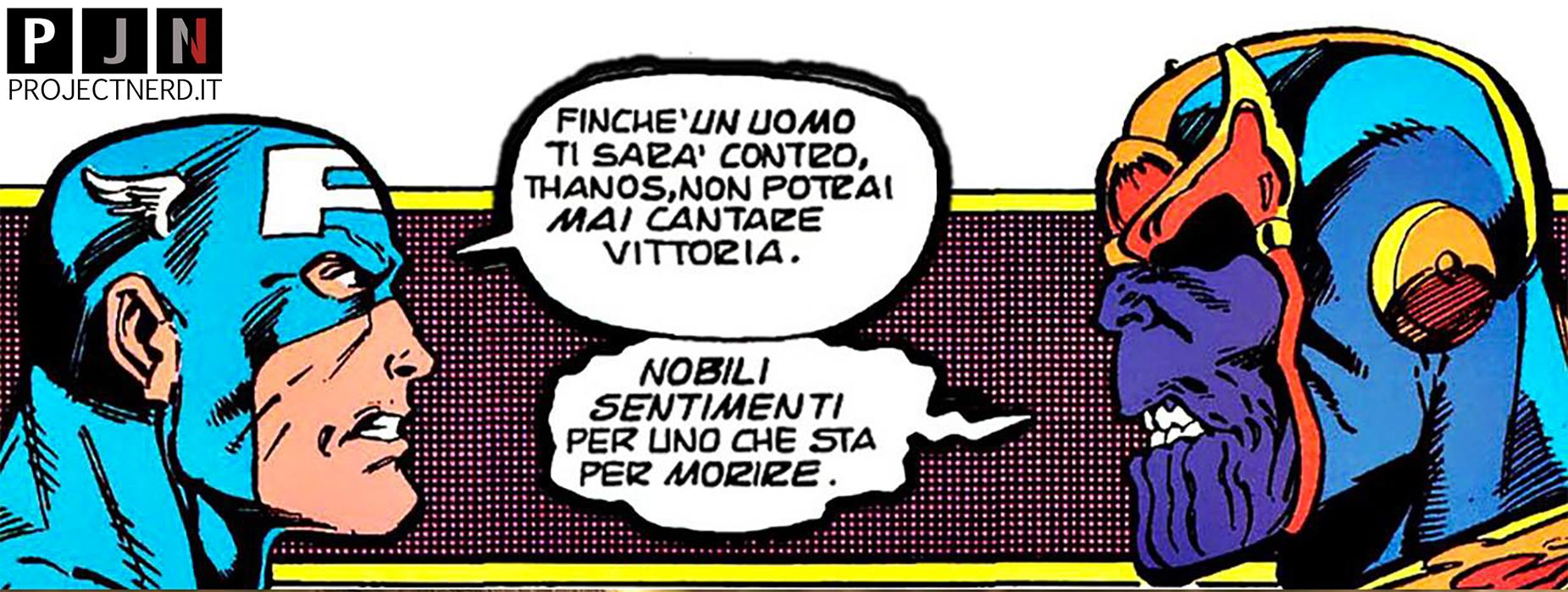 Scena del fumetto da cui è tratta la morte di Cap in Avengers: Infinity War