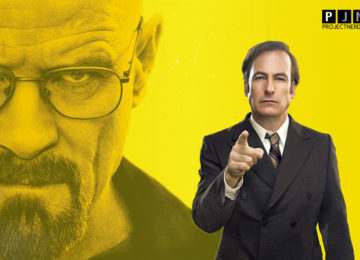 Jimmy punta il dito con Heisenberg alle spalle in Better Call Saul