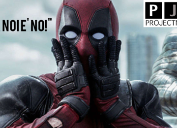 Deadpool nel fotogramma emblematico in cui mette le mani al viso in segno di stupore