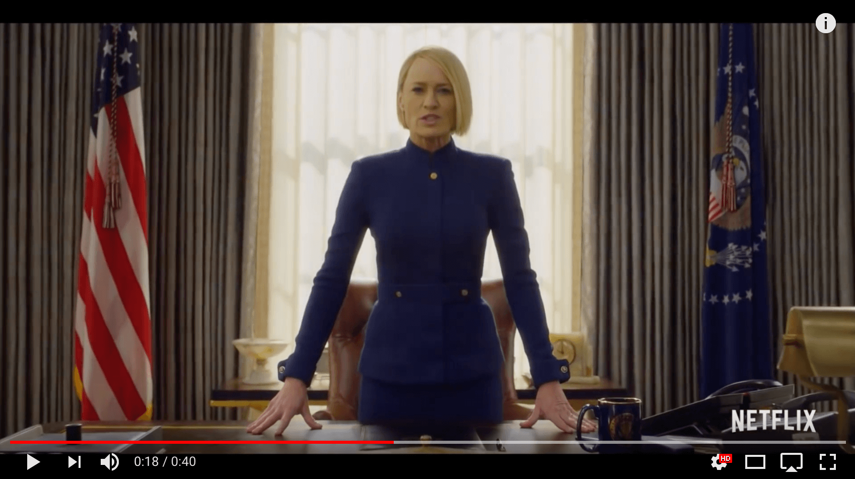 Claire Underwood (Robin Wright) - House Of Cards stagione 6