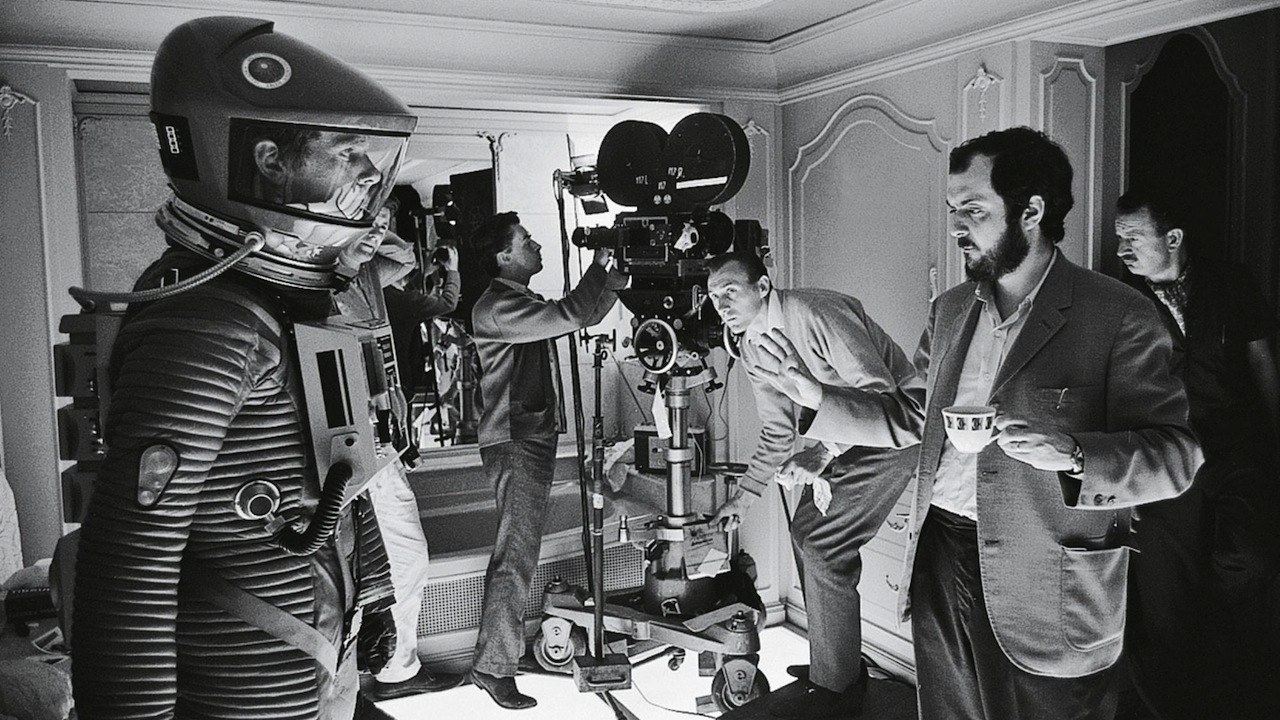 Stanley Kubrick sul set di 2001: Odissea nello Spazio