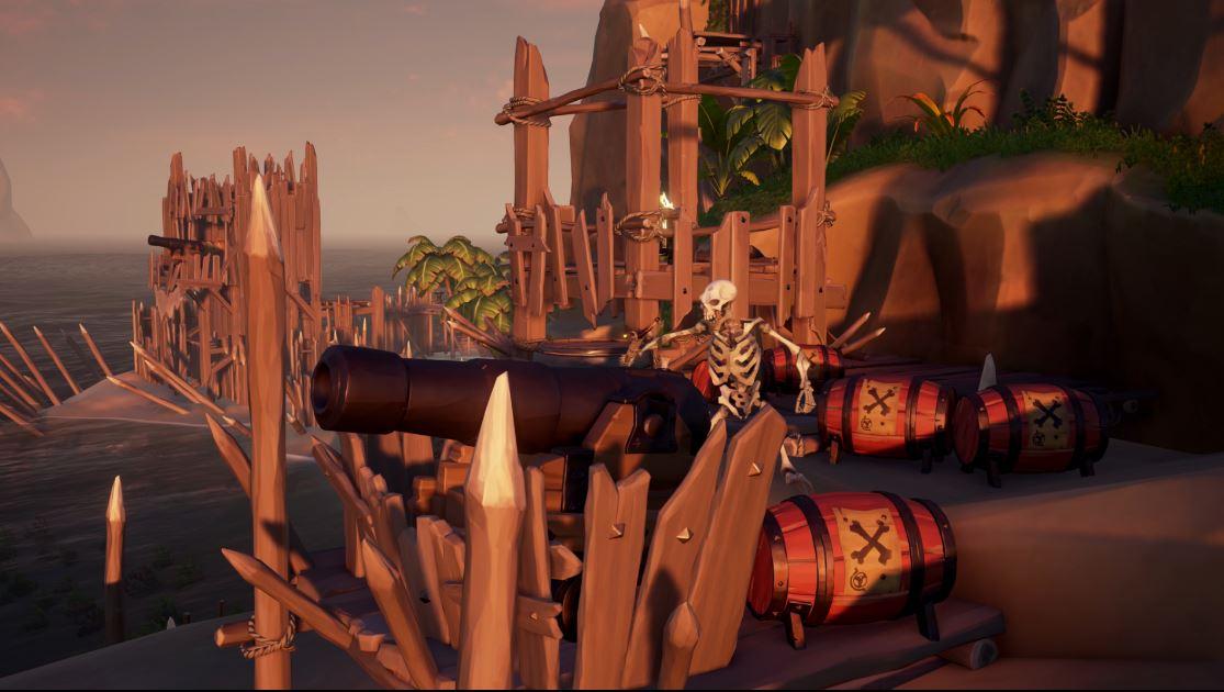 Sea of Thieves recensione scheletro