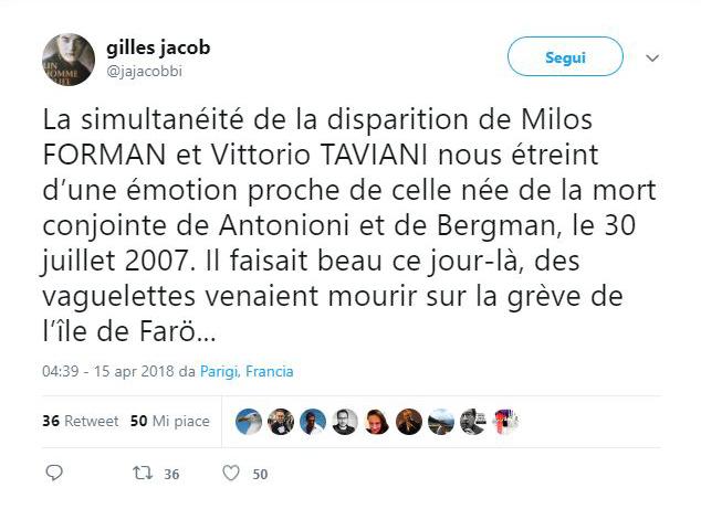 Vittorio Taviani - Gilles Jacob
