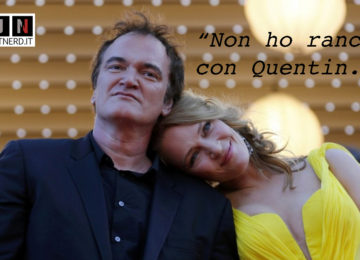 Quentin Tarantino e Uma Thurman in una posa tenera sul red carpet