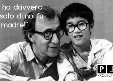 Woody Allen e il figlio Moses durante la sua infanzia