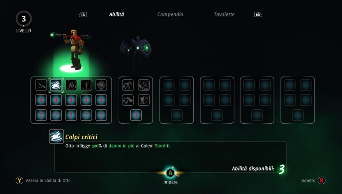 Master of Anima recensione albero abilità