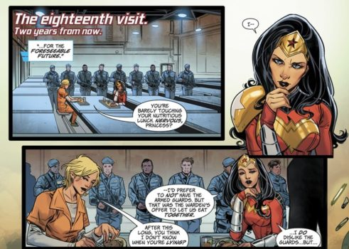 Wonder Woman #51 costume rosso oro