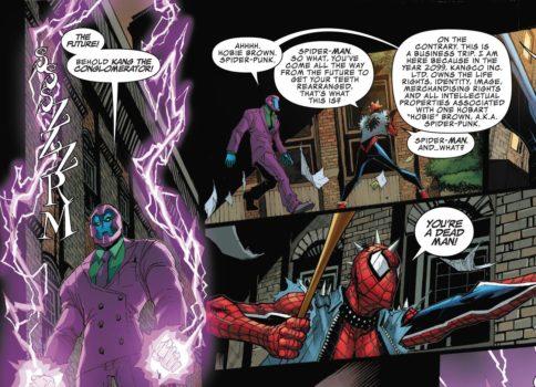 Edge of Spider-Geddon Spider-Punk Kang il Conquistatore